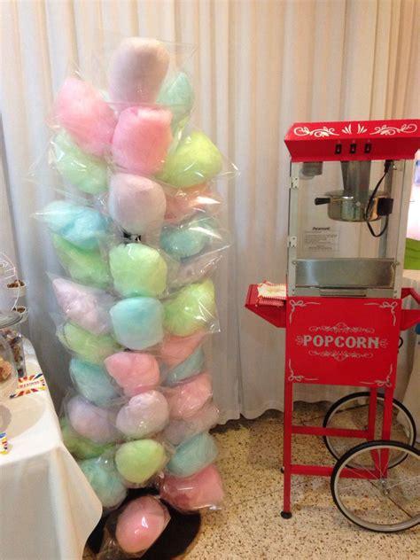 carnaval party decor popcorn machine  cotton candy