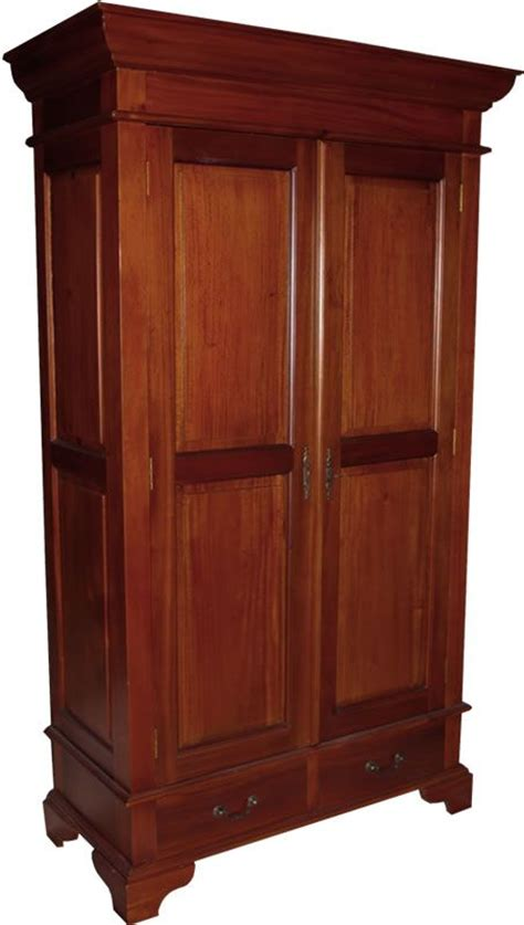 Wardrobe With Drawers by Sleigh Armoire Wardrobe With 2 Drawers