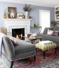 Grey Living Room with Lavender Color