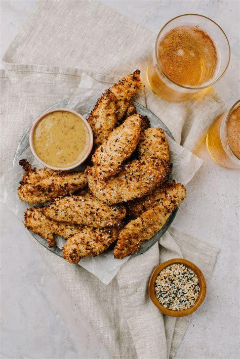 chicken air honey mustard fingers fryer everything dip bakedbree recipe finger