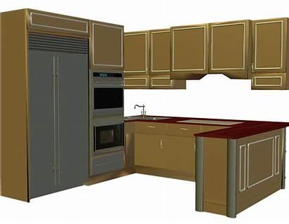 Kitchen Clip Counter Clipart Cabinet Cabinets Countertop