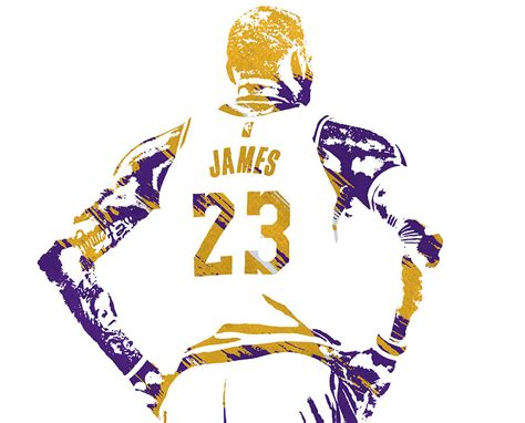 Lebron James Los Angeles Lakers Watercolor Strokes Pixel ...