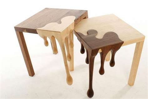 wood dripping furniture fusion tables