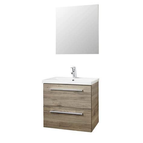 karwei gootsteen hera badmeubelset met spiegel 60 cm houtlook