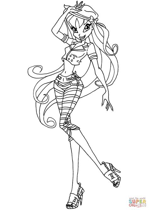 winx da colorare stella winx club stella coloring page free printable coloring pages