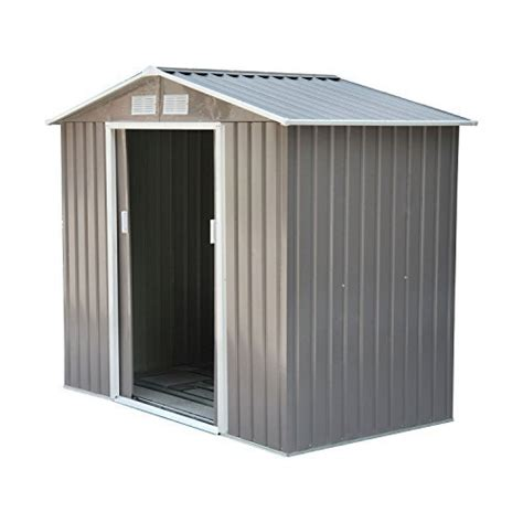 White Diy Shed by Metal Storage Shed Kit 7 X 4 Outdoor Garden Pool Lawn Tool