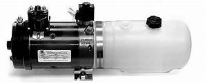 Liftgate Pump Electric Push Button 2 Quart Poly Reservoir