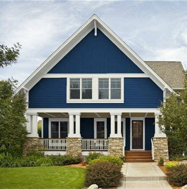 blue cottage house exterior bungalow paint colors