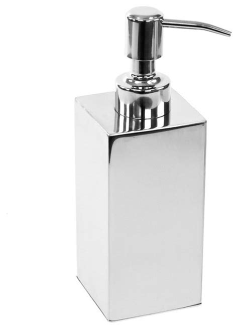 Polished Chrome Free Standing Soap Dispenser