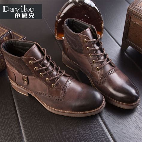 Daviko New Fashion Motorcycle Martin Ankle Men Boots