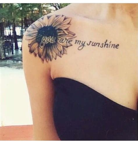 sunshine tattoos ideas  pinterest sunflower