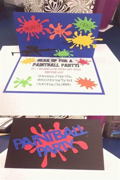 Paintball Theme Birthday Invitations Preteen