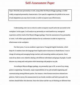 15 sample employee self evaluation form sample templates With self assessment templates employees