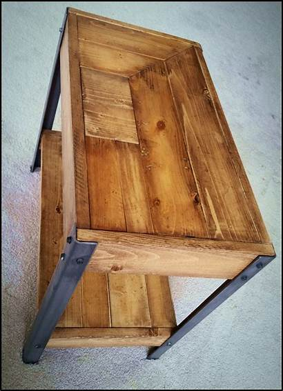 Legs Wood Rustic Plans End Iron Angle