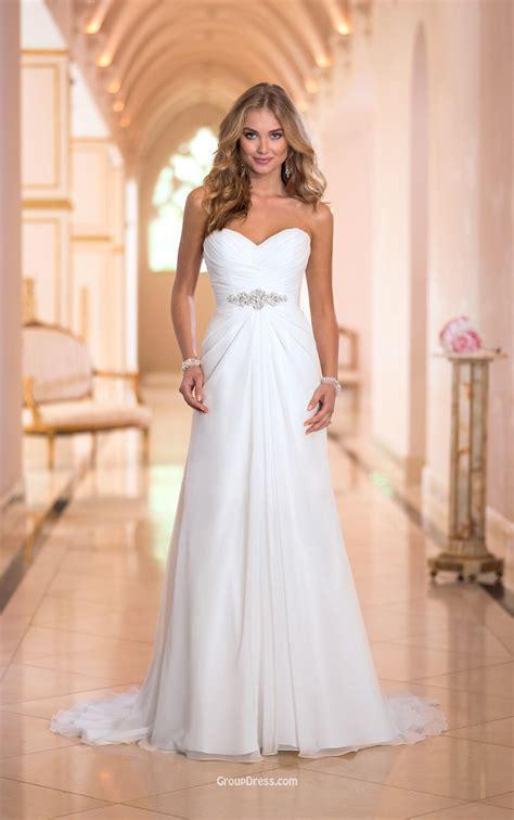 wedding dresses ivory a line strapless sweetheart stunning ivory chiffon wedding dress groupdress