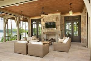Covered porch ceiling ideas patio traditional with timber