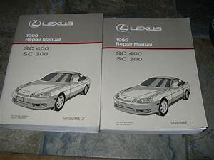 1999 Lexus Sc400 Sc300 Service Manual Shop Repair Factory
