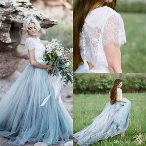 Discount2017 Fairy Beach Boho Lace Wedding Dresses With