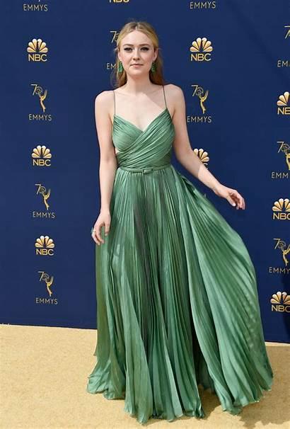 Fanning Dakota Emmy Awards Emmys Celebmafia Prom