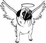 Pug Coloring Puppy Clipart sketch template