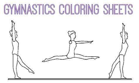 gymnastics coloring pages