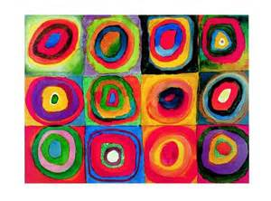 lesson kandinsky inspired concentric circles collage happiness is