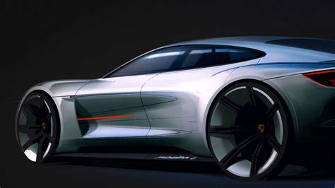 porsche mission e sketch porsche mission e concept design sketch detail car body