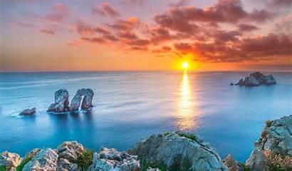 Spain Nature Sunset Landscape Desktop Wallpapers Background