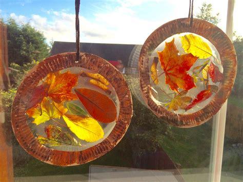autumn leaf suncatchers autumn activities  kids
