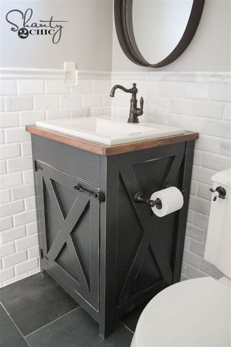 diy kitchen sink cabinet diy farmhouse bathroom vanity shanty s tutorials 6860