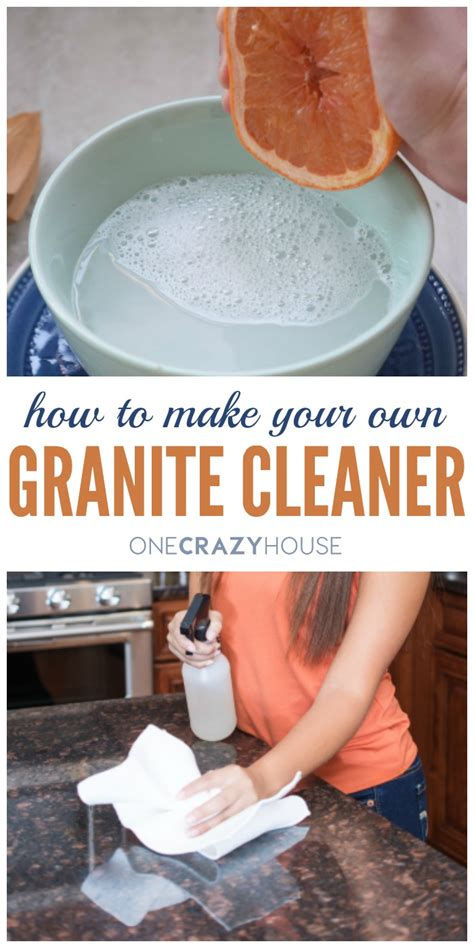 how to make your own granite countertop cleaner