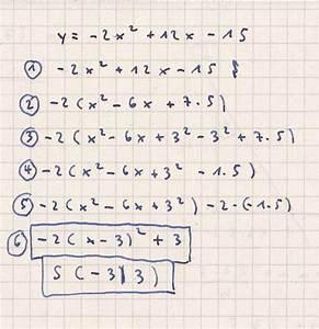 Quadratische Funktion Berechnen : scheitelpunktform funktionsgleichung in scheitelpunktsform umwandeln bsp y 2x 12x 15 ~ Themetempest.com Abrechnung