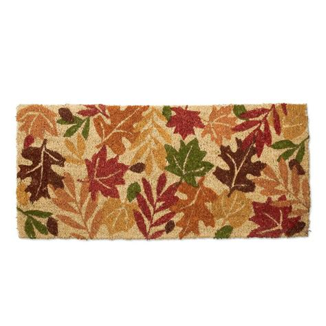 Tag Doormat by Tag Estate Harvest Leaves 18 In X 40 In Coir Mat