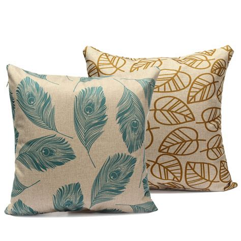 restuffing sofa cushions feathers cushions leaves feather cotton linen throw pillow