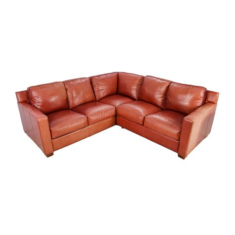thomasville leather sofa with chaise shop bartolo leather sofa