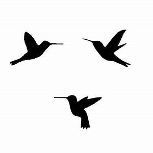 HUMMINGBIRDS - Wall STENCILS - Reusable DIY Home Decor