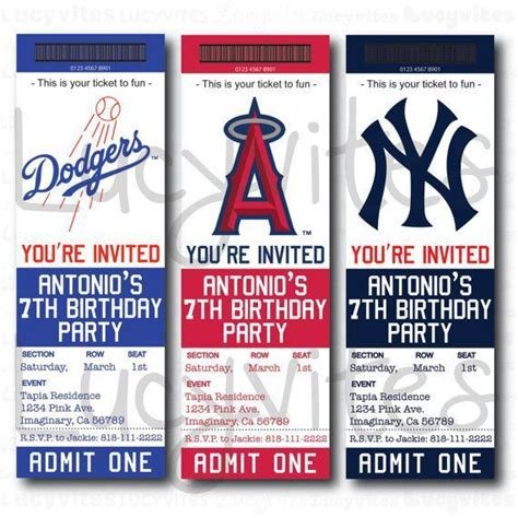 baseball team ticket invitation baseball baby shower