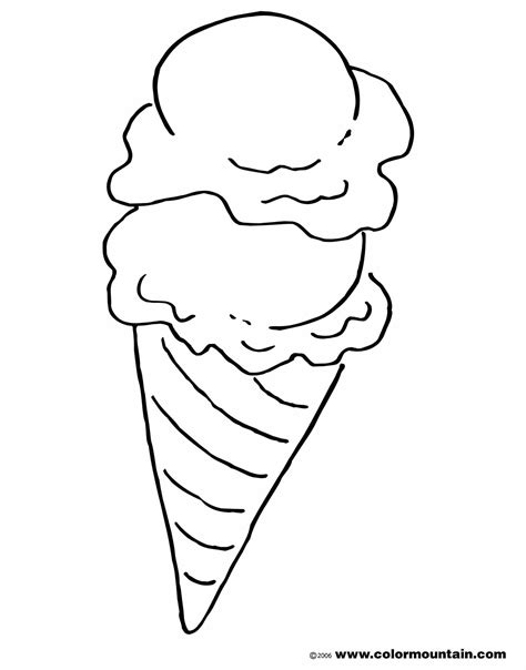 ice cream cone coloring pictures food coloring page