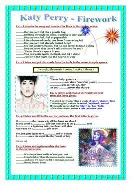 44 Free Esl Katy Perry Worksheets