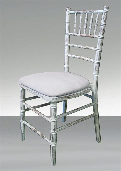 distressed chiavari chair town country event rentals