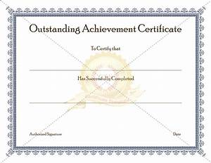 9 cute certificate of achievement template for kids vatansun for Certificate of attainment template