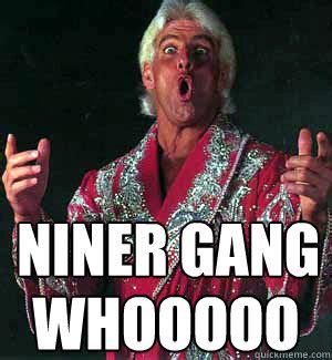 Ric Flair Memes - niner gang whooooo ric flair woooo quickmeme