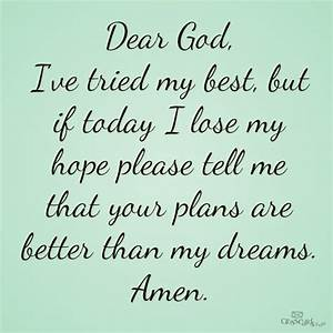 Your Plans Are Better Than My Dreams - Your Daily Verse