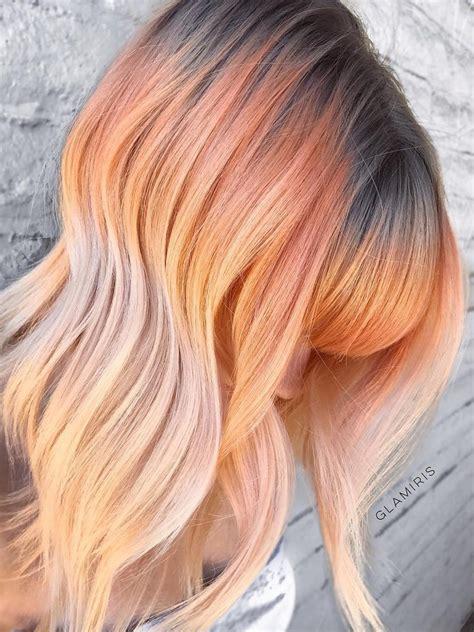 smoked peach hair      instagram allure
