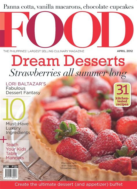 magazine cuisine food magazine cover desserts magazines