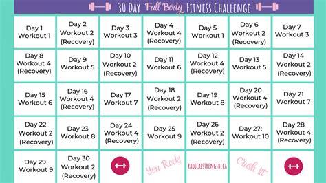 day squat challenge calendar