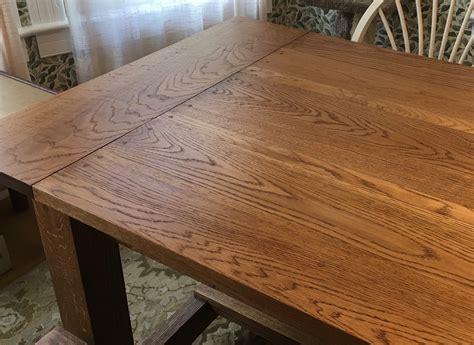 ana white white oak farmhouse table diy projects