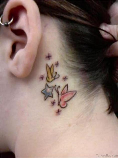 butterfly neck tattoo designs