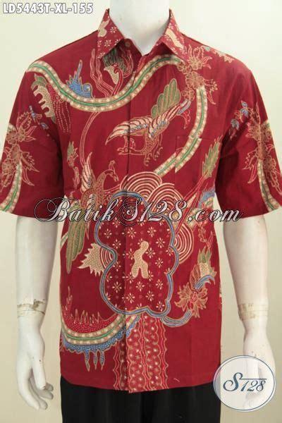 baju batik kemeja lengan pendek keren motif bagus proses tulis untuk lelaki pakaian
