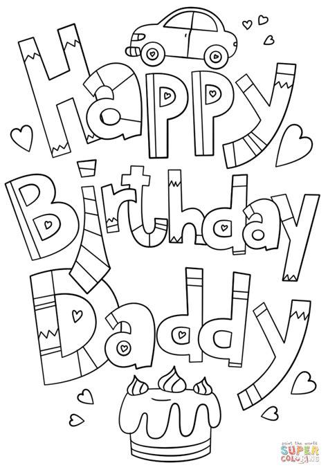 Happy Birthday Dad Coloring Pages Printable